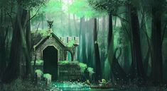 Swamp Temple by Pertheseus. http://pertheseus.deviantart.com/gallery/ I love the whole Legend of Zelda mythos. This artist is capturing the magical, mystical, mythical feel of it so well!