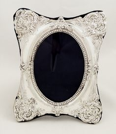b4eed5011f6 Antique Edwardian Sterling Silver Photo Frame 1908 Silver Picture Frames