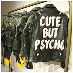 Currently on my wishlist - a handpainted @laurieleeleather jacket. Seriously how cool is this 'Cute But Psycho' jacket - what are you crushing on at the moment?