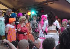 The Drag Olympics. The event calls all trannies to don their glad rags and test their resilience by limboing in high heels, battling their way over a drag obstacle course and leaping over an elastic string in the high jump.