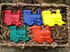 20 for 15.00 individually wrapped train crayons by Babybearcrayons