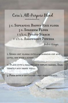 Your Guide To Gluten Free Flours: Fork & Beans' All Purpose Flour Blend