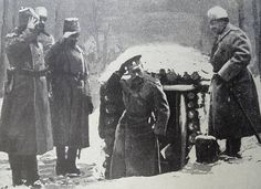 Tsar Nicholas II of Russia at the front line in world war one 1916