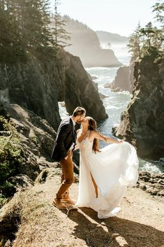 Cliffside Elopement at Samuel H. Boardman  — Karina & Maks -Portland Wedding Photographer