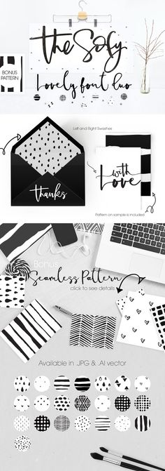 The Sofy Font Duo +Pattern+Freebie by mycandythemes on @creativemarket