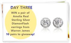 #Win one of 10 pairs of Amelia Real sterling silver DiamondFlash earrings. Enter this competition here http://www.moneymagpie.com/article/win-amazing-prizes-in-8-days-of-competitions