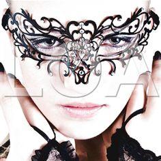 Sexy mascherine nere per le serate romantiche, il Burlesque, carnevale e feste.