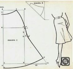 Drafting a bias cut tulip skirt Skirt Patterns Sewing, Blouse Patterns, Clothing Patterns, Fashion Sewing, Diy Fashion, Fashion Moda, Sewing Clothes, Diy Clothes, Sewing Hacks