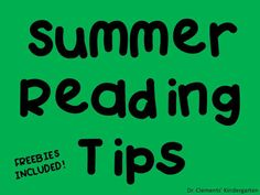 Summer Reading Tips Who wants to read in the summer when you are on break from school? At least that's how some students fe. Kindergarten Reading Activities, Kindergarten Freebies, Classroom Freebies, Reading Worksheets, Reading Resources, Kindergarten Classroom, Reading Intervention, Reading Comprehension, Teacher Blogs