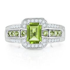 14K Gold 2 MM Diamond and Peridot August Birthstone Ring Size 6 MSRP $280