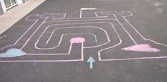 Nice variation, a castle shaped labyrinth for kids.