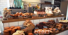 Tom's Deli, London, a fine assortment of bread and cake sort of things
