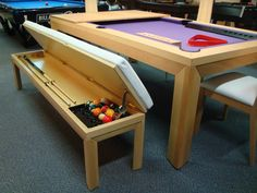 Browse pool tables for sale from the UK's number one games room retailer. With Europe's largest range of full size professional pool tables including English, American and Dining Table and more. Our pool table sizes range from to a Pool Table Dining Table, Pool Table Room, Pool Tables, Diy Pool Table, Basement Bar Designs, Home Bar Designs, Basement Ideas, Home Decor Furniture, Cool Furniture