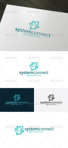 System Connect Logo — Photoshop PSD #network #connect • Available here → https://graphicriver.net/item/system-connect-logo/7434479?ref=pxcr
