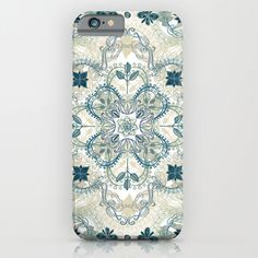 Buy Forest Green & Neutral Taupe Detailed Lace Doodle Pattern by Micklyn as a high quality iPhone & iPod Case. Worldwide shipping available at…