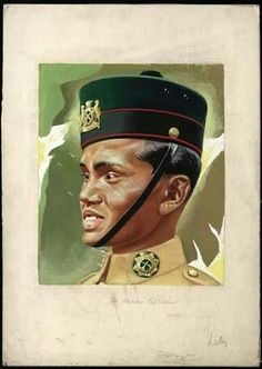 Malaya Poster - A Malay soldier poster 1941.