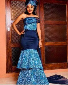 Seshweshwe Dresses, Nice Dresses, Fashion Dresses, Sotho Traditional Dresses, African Traditional Dresses, African Traditional Wedding, Traditional Wedding Dresses, Traditional Weddings, African Women