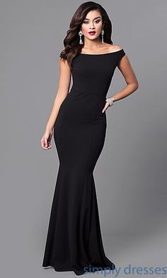 aae5ce2a3b4 Off-the-Shoulder Mermaid Long Black Prom Dress Mermaid Prom Dresses