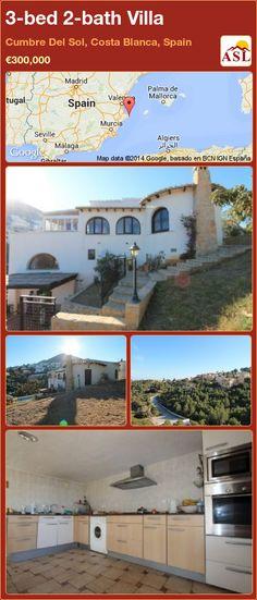 3-bed 2-bath Villa in Cumbre Del Sol, Costa Blanca, Spain ►€300,000 #PropertyForSaleInSpain
