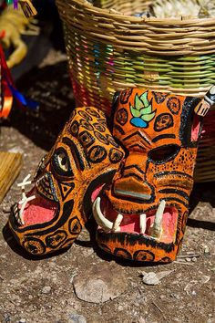 Máscara de tecuani o jaguar, en Guerrero. Foto: Daniel Pérez