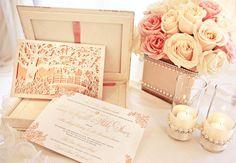 Luxury Wedding Invitations by Ceci New York - Rose Gold Wedding Box Wedding Invitations, Wedding Stationary, Invites, Invitation Ideas, Rose Wedding, Dream Wedding, Wedding Day, Wedding Disney, Wedding 2017
