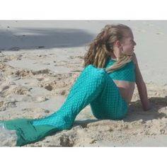 Cute Mermaid Swim Tail Child S (6-9) Seagreen Scales
