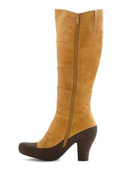 Fact and Confection Boot, #ModCloth  I WANT THESE SO BAD i can taste the leather and faux fur lining.