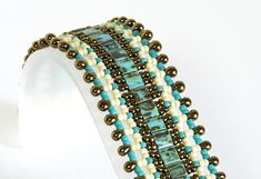 Tila Bead Bracelet  Seed Bead Bracelet  Beadwoven Bracelet