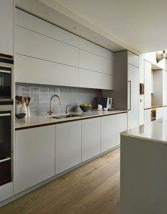 123 Home Renovation Ideas: Contemporary Kitchen Style www. Kitchen Sets, Open Plan Kitchen, Kitchen Living, New Kitchen, Kitchen Grey, Living Room, Kitchen Shades, Kitchen Small, Updated Kitchen