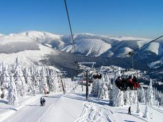 Ski resort in Czech Republic Snowboarding, Skiing, What A Wonderful World, Eastern Europe, Czech Republic, Nature Photos, Wonders Of The World, Mount Everest, To Go