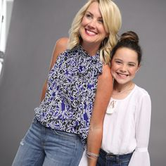 We love ruffles! Wear them from summer to fall with shorts and jeans. Mom and daughter outfits are fun with ruffles. Mom can wear them with a print and daughter can wear shirt with a ruffle sleeve. JCPenney has all the ruffle tops for mom and daughter outfit ideas.