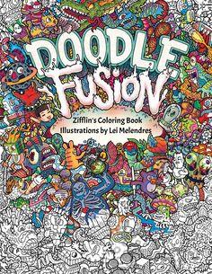 Doodle Fusion: Zifflin's Coloring Book (Volume 2): Zifflin, Lei Melendres: 9781517376918: Amazon.com: Books