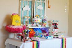 Coisas da Lívia: Festa Infantil Tema: Arco-Iris & Chuva...