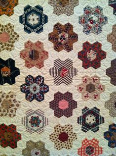 More photos from the marvelous exhibit Workt by Hand: Hidden Labor and Historical Quilts  at the Brooklyn Museum:   A classic in red and wh...