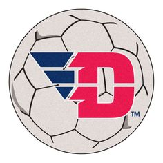 """University of Dayton Soccer Ball - For all those soccer fans out there: soccer ball-shaped area rugs by FANMATS. Made in U.S.A. 100% nylon carpet and non-skid recycled vinyl backing. Machine washable. Officially licensed. Chromojet printed in true team colors.FANMATS Series: SOCCBALTeam Series: University of DaytonProduct Dimensions: 27"""" diameterShipping Dimensions: 27""""x14""""x0.5"""". Gifts > Licensed Gifts > Ncaa > All Colleges > University Of Dayton. Weight: 1.70"""