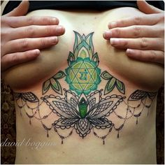 I like the greens and parts of the tattoo. I definitely don't like the placement.