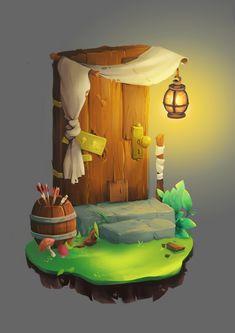 ArtStation - Wooden door concept - Bastion , S. PACHA