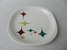 Retro Syracuse China Jubilee Plate 8 1/2 Atomic by VarietyRetro