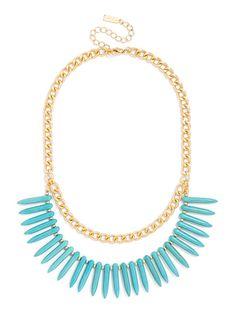 Organic Fringe Bib Necklace | BaubleBar