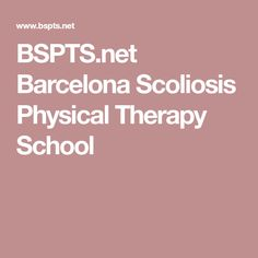 BSPTS.net Barcelona Scoliosis Physical Therapy School