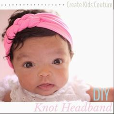 Create Kids Couture: 4th Day of Christmas: DIY Knot Headband