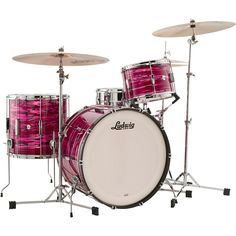 Ludwig Club Date 3-Piece Pro Beat Shell Pack with 24 in. Bass Drum Ruby Strata