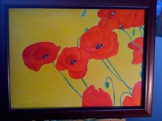 Poppies, yes poppies in acrylic