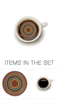 """what's in your cup of coffee?"" by koalamum ❤ liked on Polyvore featuring art"