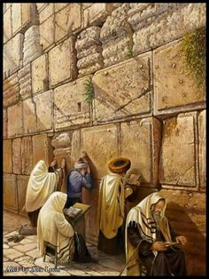 Praying at the Wall Alex Levin art