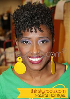 Natural Hairstyles for Black Women Over 50 | thirstyroots.com: Black Hairstyles and Hair Care