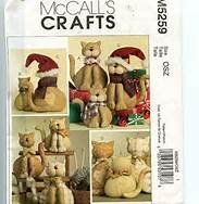 McCalls Crafts Cat Family pattern M5259 * Continue to the product at the image link.