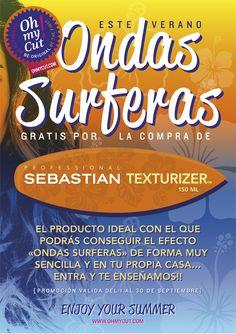 Último día para conseguir tus ondas surferas #gratis por la compra de TEXTURIZER de Sebastian Professional... #adiosverano