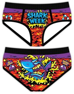 anthoni hall, shark week period, cloth, shark week panties, funni, hilari, funny period, funny panties, period panties