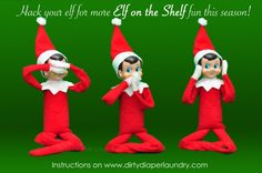 "Make Your ""Elf on The Shelf"" Bendable and Grippy-Tutorial 